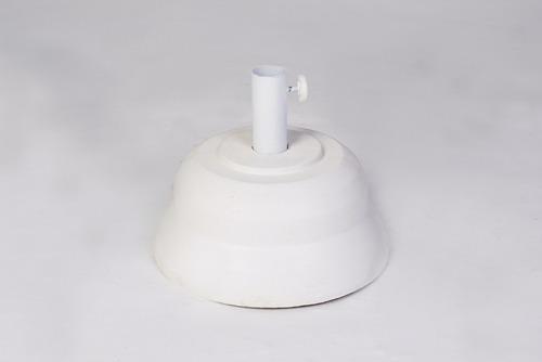 bases de sombrilla de 10 kg blanca