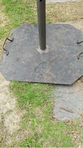bases de sombrillas de hierro