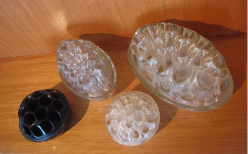 bases de vidrio inglesas arreglo floral ikebana flower frogs
