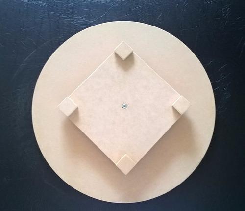 bases giratorias para tortas de 40cm en mdf