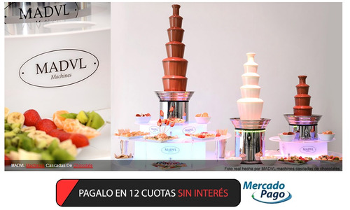 bases luminosas para cascadas de chocolate profesionales