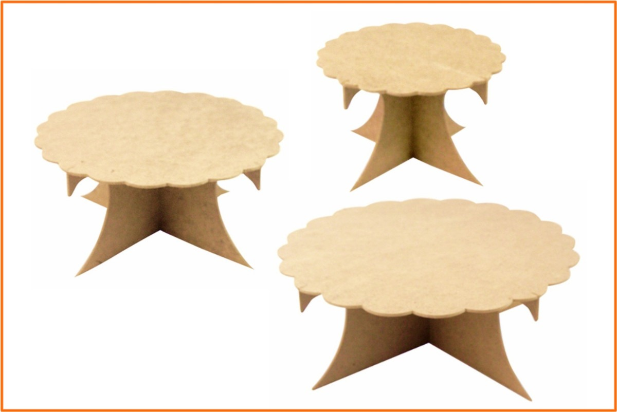 bases mdf triple postre cupcakes conos pastel dulces fiesta en mercado libre. Black Bedroom Furniture Sets. Home Design Ideas