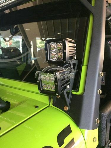 bases monturas de jeep wrangler jk par de faros led dually