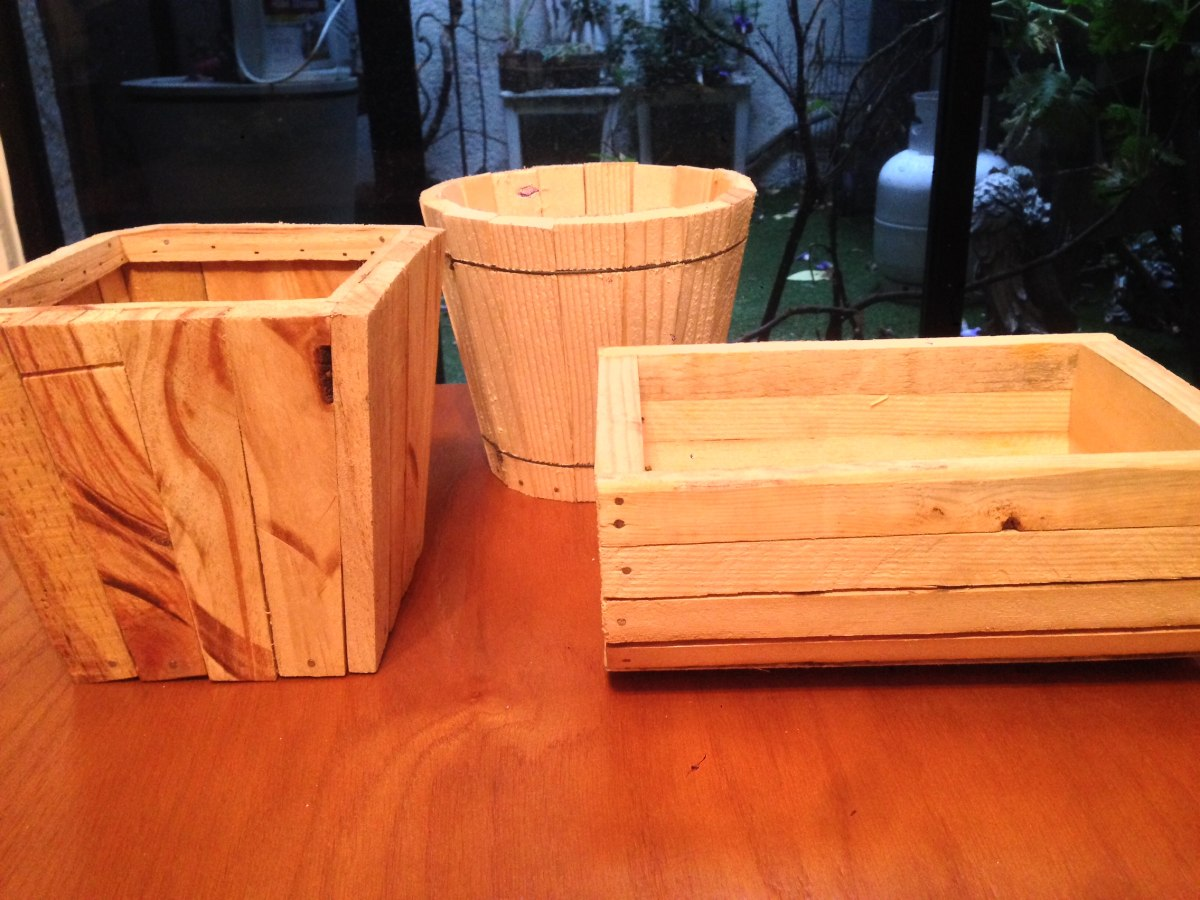 Bases para arreglos florales y centros de mesa de madera for Bases para mesas de centro