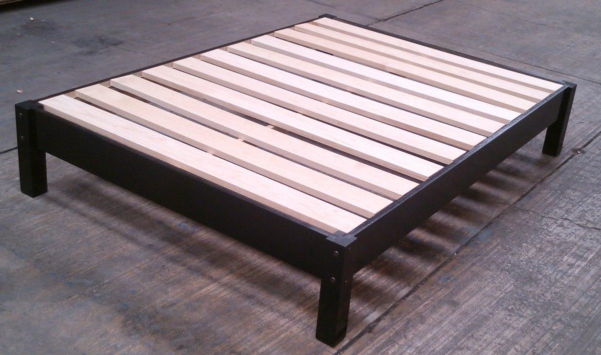 Bases para cama de madera individual desarmable individual for Cuanto mide una cama queen size