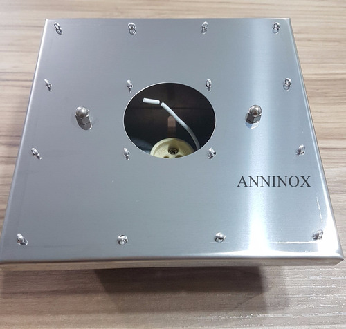 bases para montagem de lustre de cristal em inox 14x14