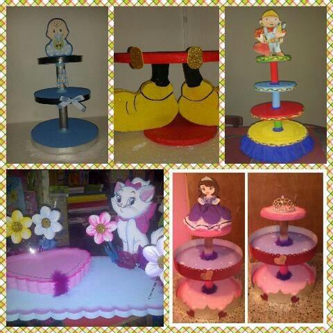 bases para ponquesitos dilces decoración de mesas