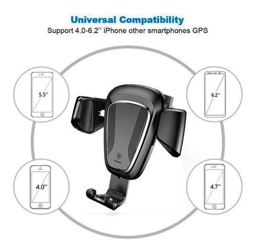 baseus soporte para celular gravity mount, 6.2  anti-rayones