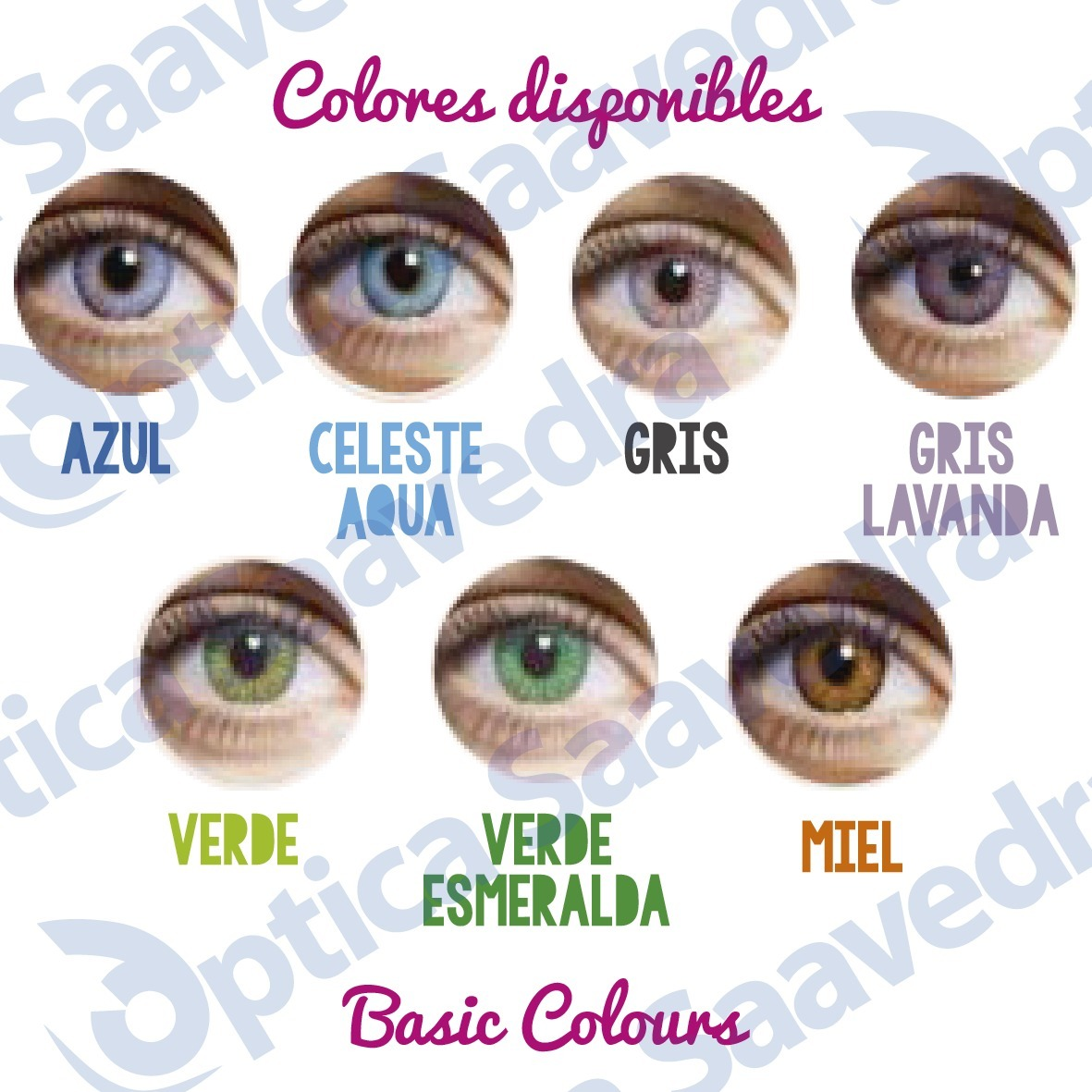 160794f052904 basic colours x2 pares lentes contacto color trikolor waicon. Cargando zoom.