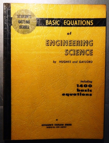 basic equations of engineering science - hughes & gaylord