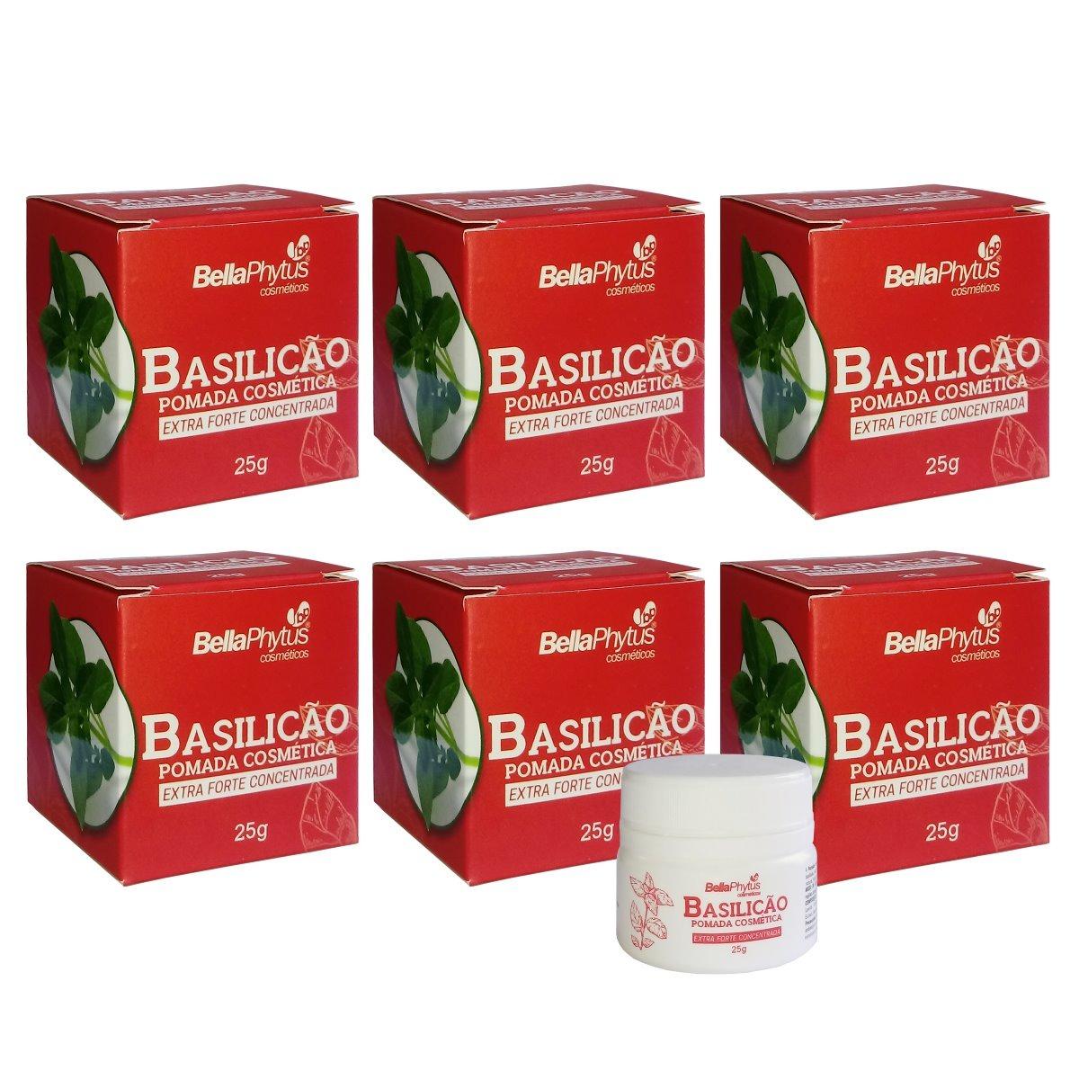Basilicão Pomada Extra Forte Concentrada 25g Bella Phytus Kit 6 Unidades