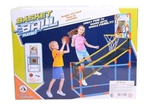 basquet basketball playset con red y tablero para niños