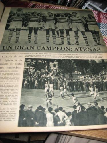 basquetbol - atenas campeón - revista mundial 1947