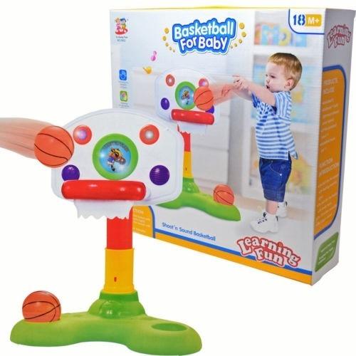 basquete do bebe brinquedo educativo infantil musical luz