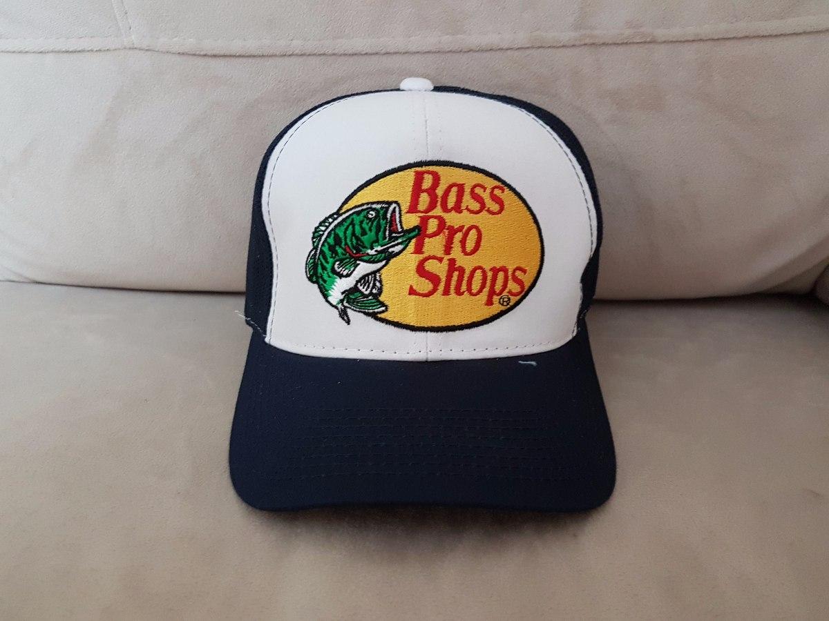 bass pro shop gorra original! bordada azul oscuro. Cargando zoom. 8b6cc7e5cd8