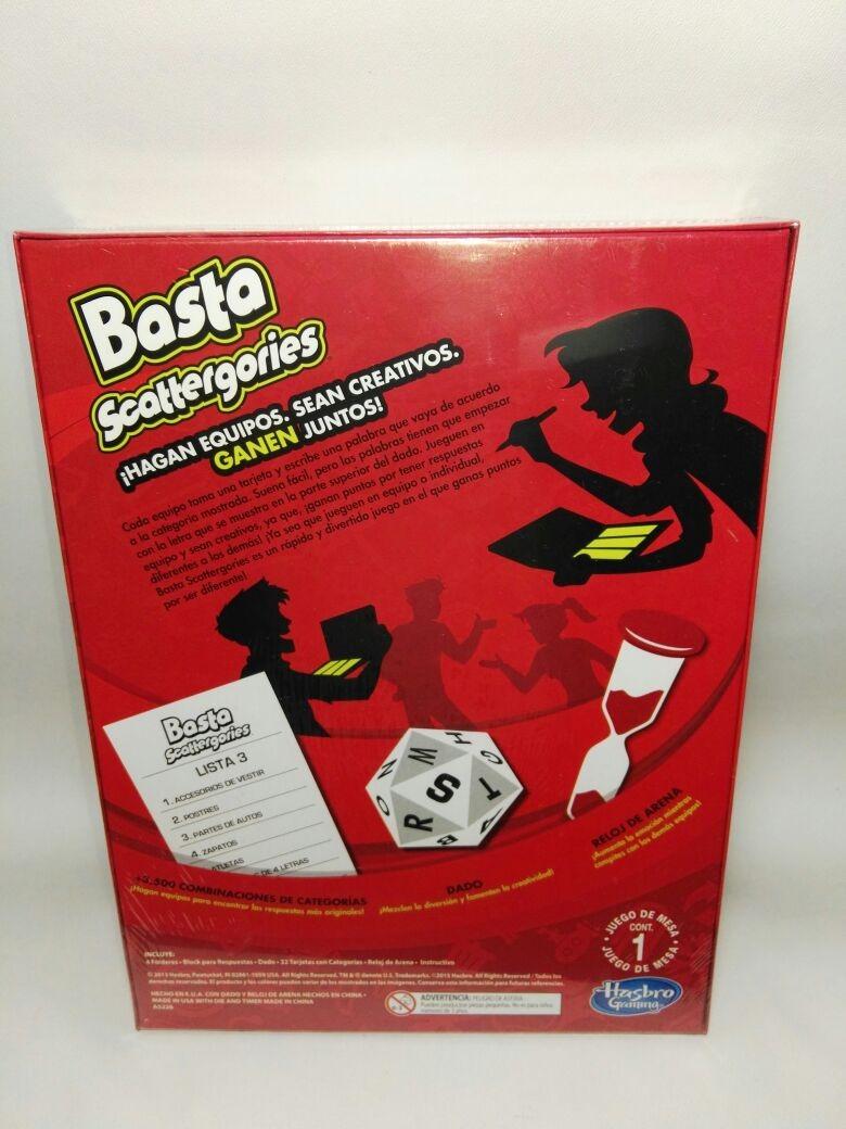 Basta Juego De Mesa Hasbro Juego Basta Scattergories 450 00 En