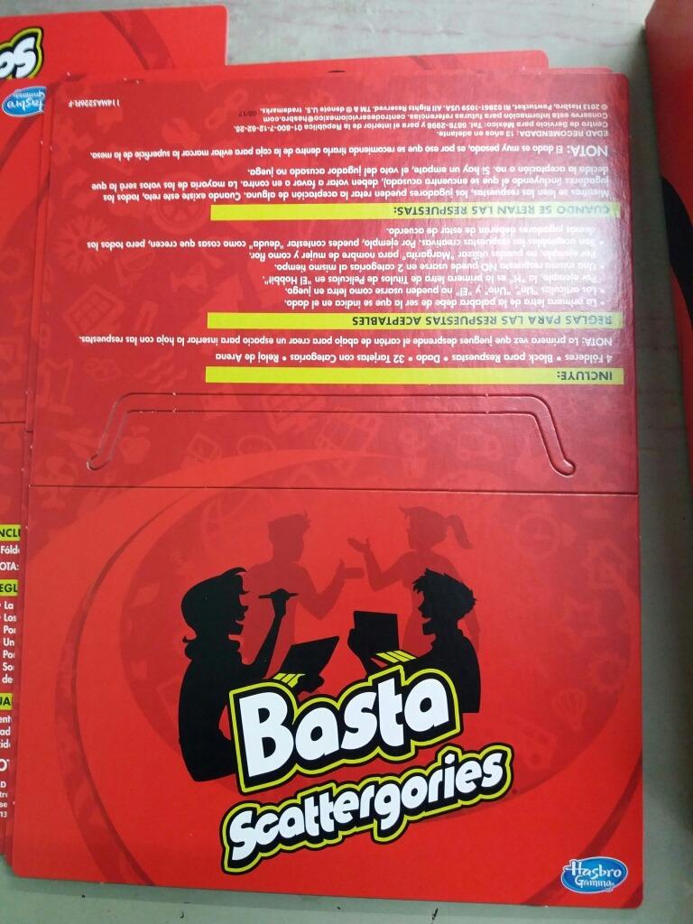 Basta Scattergoried Juego De Mesa 175 00 En Mercado Libre