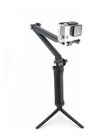 bastao 3 formas go pro garra tripe selfie 3 way gp-tjb