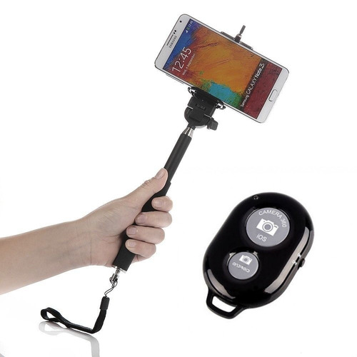 bastao monopod selfie celular + controle bluetooth