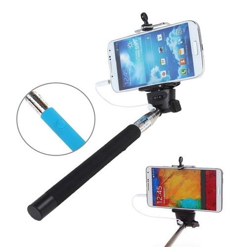 bastao selfie monopod disparador via cabo p2 celular - novo