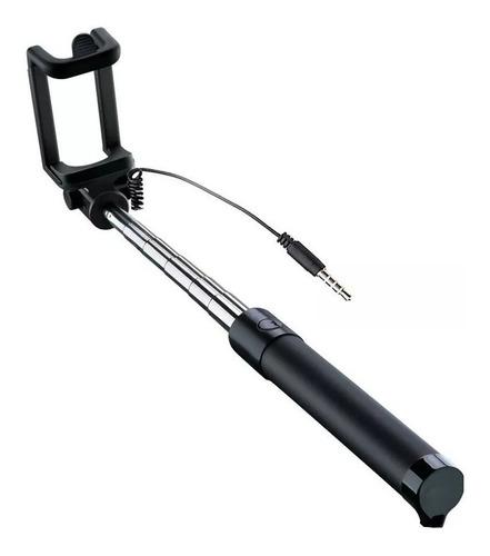 bastao selfie monopod self disparador via cabo p2 celular