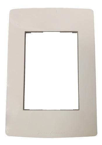 bastidor llave de luz tapa performance 4 modulos blanco sica