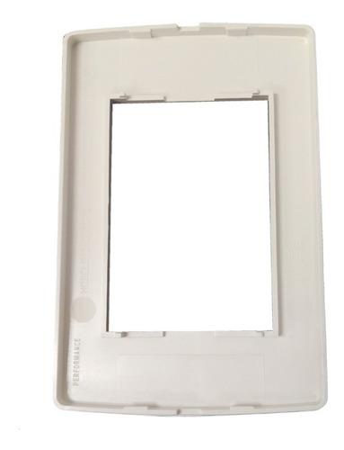 bastidor llave de luz tapa performance 4 modulos blanco toma
