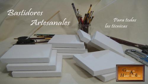 bastidores pintura oleo, 40x50 y 50x60 cm paquete 10 pzas