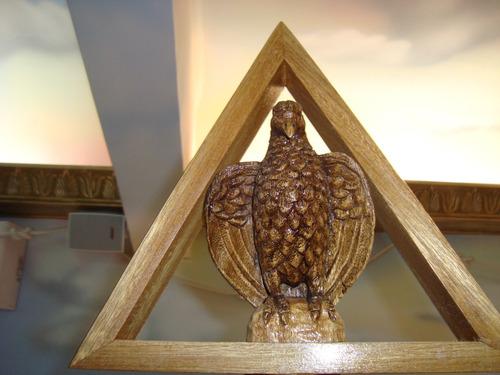 bastão 1º e 2º diacono para maçônaria em madeira