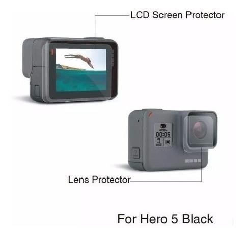 bastão 3 way gopro hero 5 6 7black películas proteção maleta