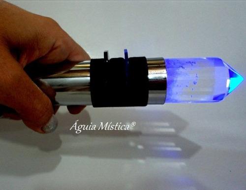 bastão atlante cromoterapia e cromopuntura cristal vogel