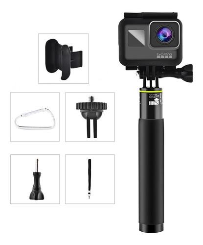 bastão compacto metal selfie prova d'agua gopro hero 8 black