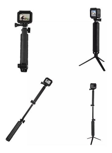 bastão flutuante 3 way para câmeras gopro hero - telesin