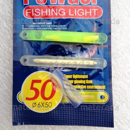bastão luminoso 18pç 6mm x 50  pesca noturna festa luz quimi