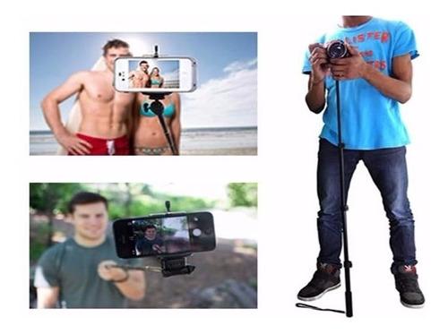 bastão pau de selfie monopod monopé disparador profissional