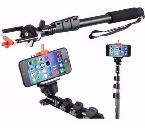 bastão profissional pau self monopod câmera celular 1,23cm