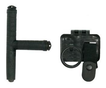 bastão retrátil resistente + porta tonfa fixo - bélica