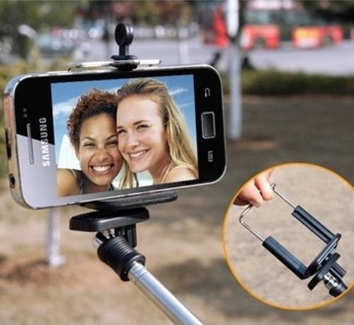 bastão selfie monopod controle remoto bluetooth smartphone