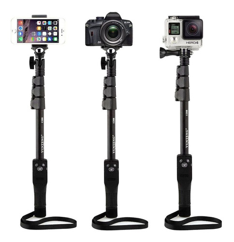 bastão selfie yt-1288 yunteng c/ espelho adapt gopro monopod