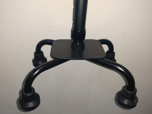 baston 4 patas y doble apoyo aluminio altura ajustable