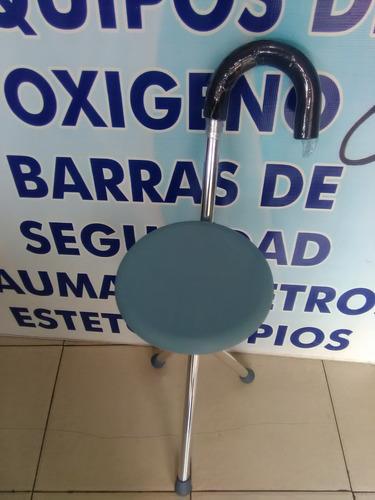 baston asiento 3 apoyos banco portatil plegable ligero