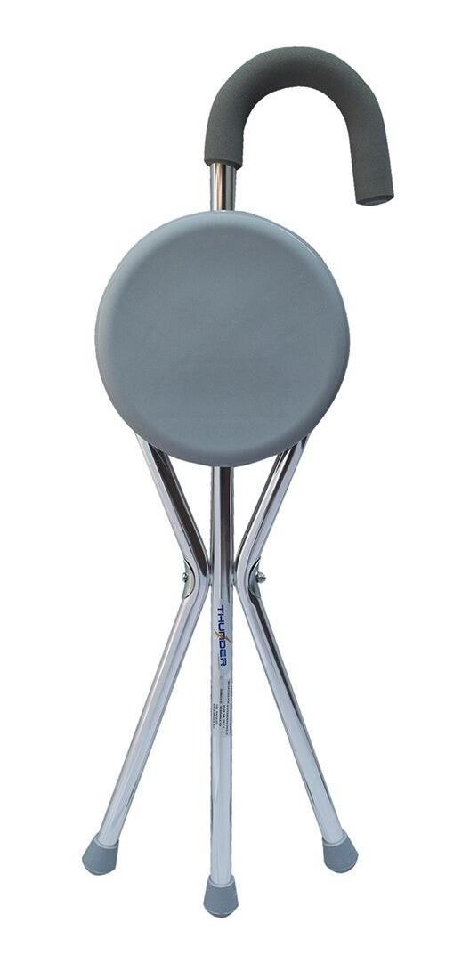 Baston Con Asiento Aluminio Marca Medcial Store Envio Gratis