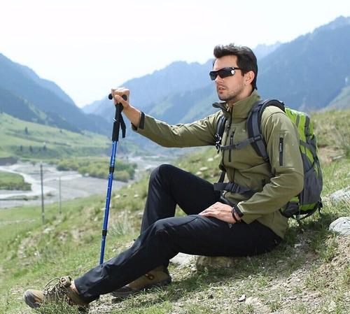 baston de trekking qiangsheng original con brújula antishock