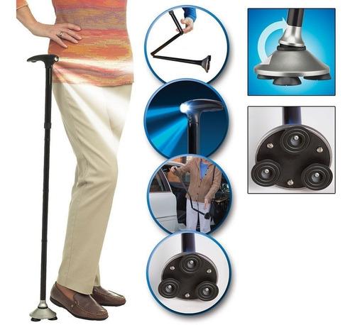 baston elderly crutch con luz plegable 5en1 - micromaster