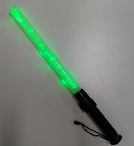 bastón luminoso 52cm rojo/verde/azul 7 funciones pila tipo c