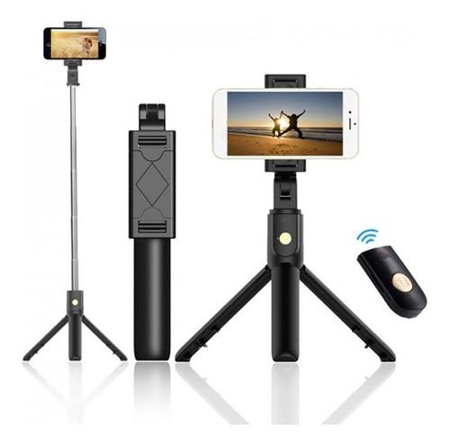 bastón monopod bluetooth soporte tripode selfie celular