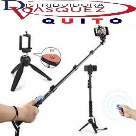 baston monopod + selfie stick + trípode + control bluethoo