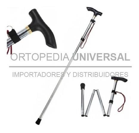 bastón ortopedico plegable en aluminio regula altura nuevos