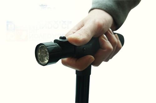 bastón ortopédico retractil con luz led