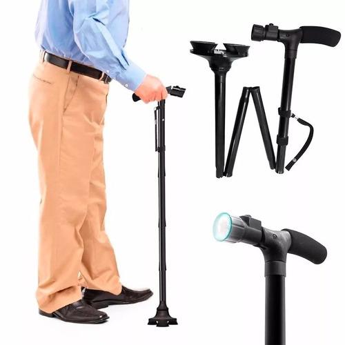 baston plegable ajustable linterna led trusty cane